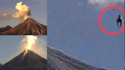 Horse shaped UFO was spotted close to volcano Colima
