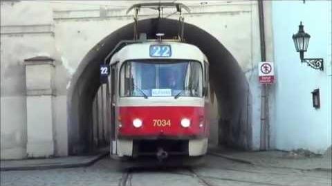 The Tatra T3 trams in Prague