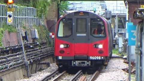 London Underground 1996 Stock 96098 and 96097 on the South Ealing Test Track