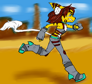 Eryn running coloring