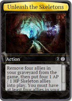 Unleash skeletons