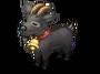 Black goat icon