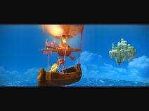 Hero Flies To Sky Island