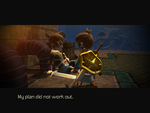 Hero meets his Fater before the first Oceanhorn battle
