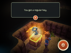 Regular Key in chest