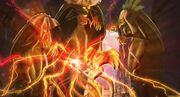Três Bruxas Ancestrais enfeitiçando Sirenix