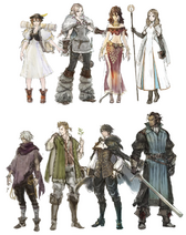 Octopath Lineup Female to Male