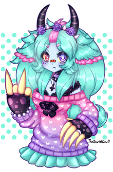Pastel goth monster echo by thescarletdevil-d701jkd