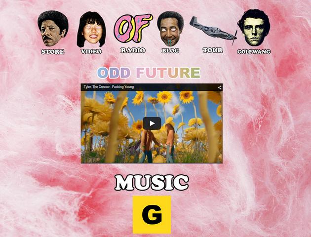 File:A Screenshot of Odd Future's website.png