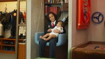 Ovidio with a baby OddTube S02E03