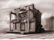 Concept Art Clakker Town 8