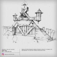 Clakker Town Gate Concept Art