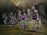 A squad of Mudarchers