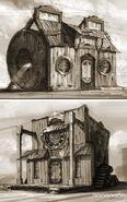 Concept Art Clakker Town 9