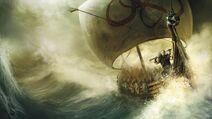 Water army ships vikings realistic sailing desktop 1366x768 hd-wallpaper-1158618