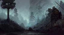 900x495 14931 Viking 1 2d fantasy illustration vikings mist landscape picture image digital art