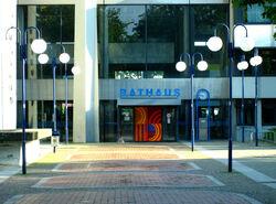 Stadthof Rathaus Eingang