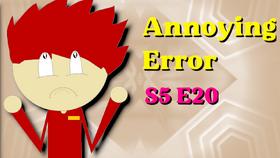 Annoying error thumb