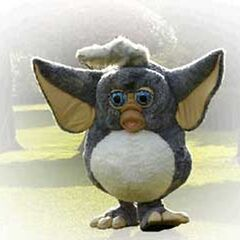 A Furby suit that was seen at the celebration of Furby's launch in Spain, Madrid