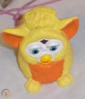 Furby baby orange and yellow cake topper