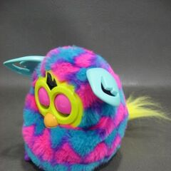 Furby Boom Pink & Blue Hearts (3/4 View)