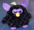 Black angry plush