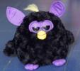 Black angry plush