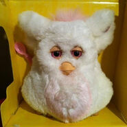 Pink and white furby inbox