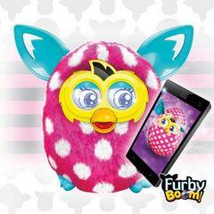 Furby Boom Polka Dots Advertisement