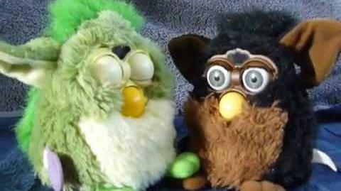 A video of a Frog Furby and a Gorilla Furby by Anush Yaranushian on YouTube