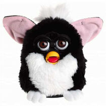 Black White Furby whit brown eyes