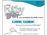 Emoto-Tronic Furby Baby Manual Copy