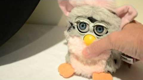Furby Pink Gray Spotted Tiger Electronics