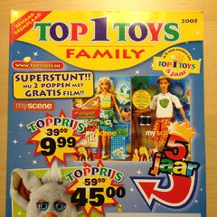 Furby appearing on the front cover of a Top 1 Toys magazine