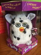 Electronic-Furby-black-and-white-Dalmatian-green-eyes