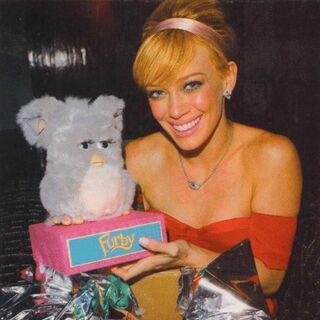 A photo of Hilary Duff from a <i>People</i> magazine (published in October, 2005)