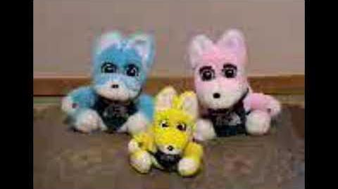Donbei Original Kakeai Manzai Family (Japanese Fake Furbys from 2000)