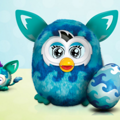 Furby Boom Waves in an animated style