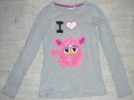 I love furby pink and gray shirt