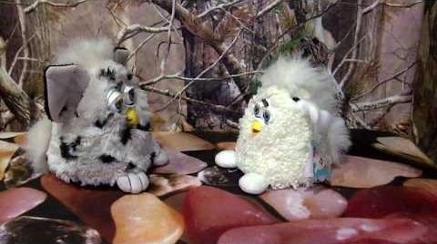 1998 Dalmatian Furby With 1999 Furby Babies Lamb