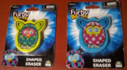 Furby boom shaped erasers