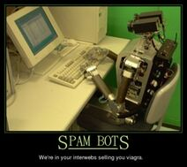 Spambot demotivational poster