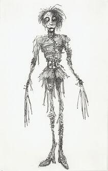 Tim Burton Edward Scissorhands Art