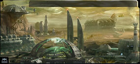 Ogame Gas Giant Facilities Backdrop