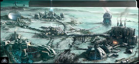 Ogame Ice Planet Resources Backdrop