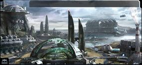 Ogame Water Planet Facilities Backdrop