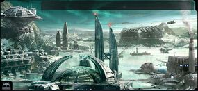 Ogame Ice Planet Facilities Backdrop Full