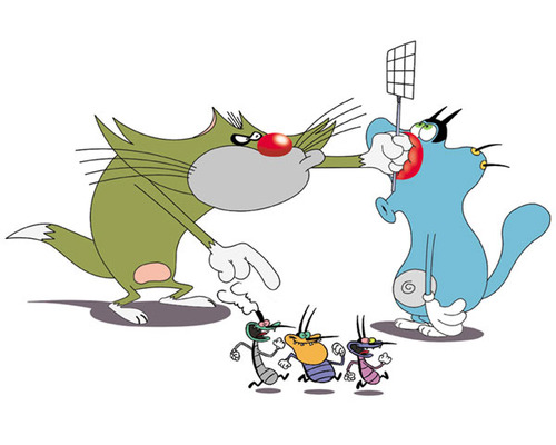 Image  Jack and Oggy and cockroachesjpg  Oggy and the