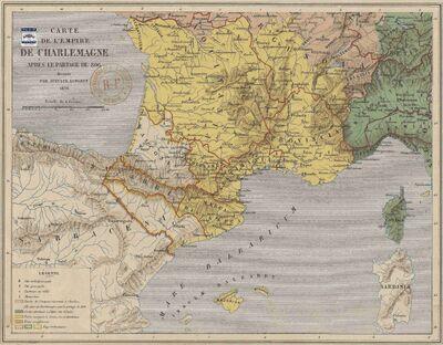 Aquitaine en 806 op