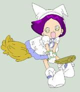 Masaki in Hana's outfit